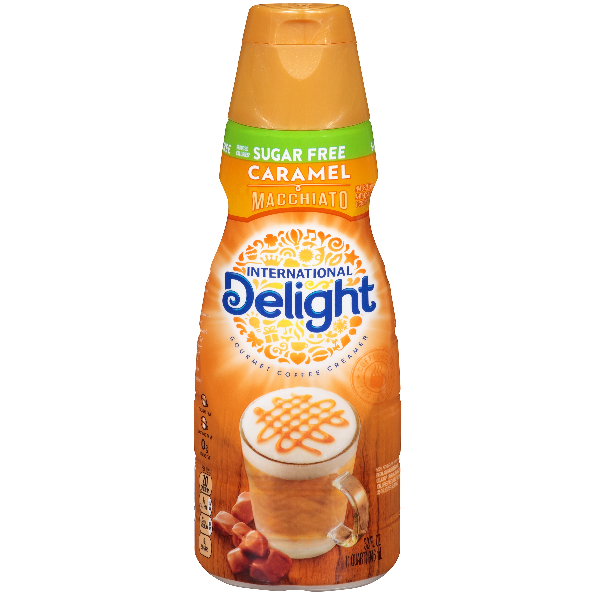 Macchiato Caramel International Delight Sugar Free Caramel Macchiato Coffee Creamer 32 Oz