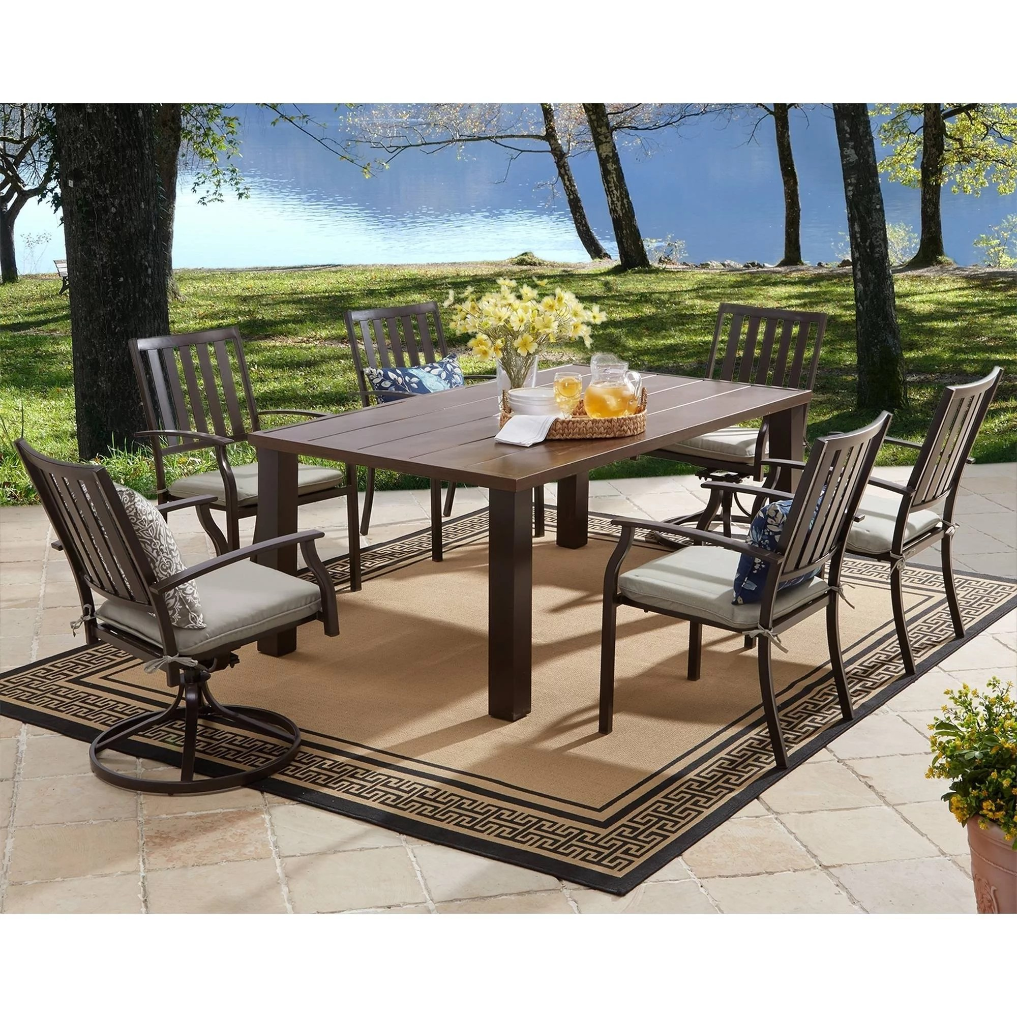 Metal Table Better Homes And Gardens Camrose Farmhouse Mix Match Dining