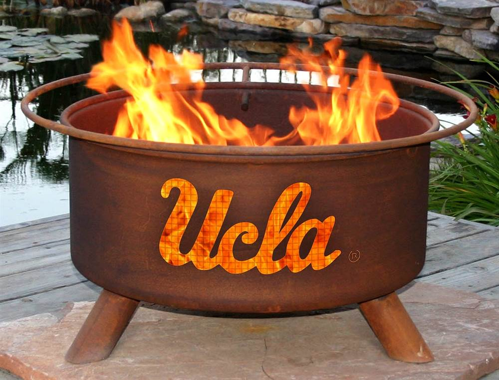 Ucla Fire Pit In Natural Rust Patina Collegiate