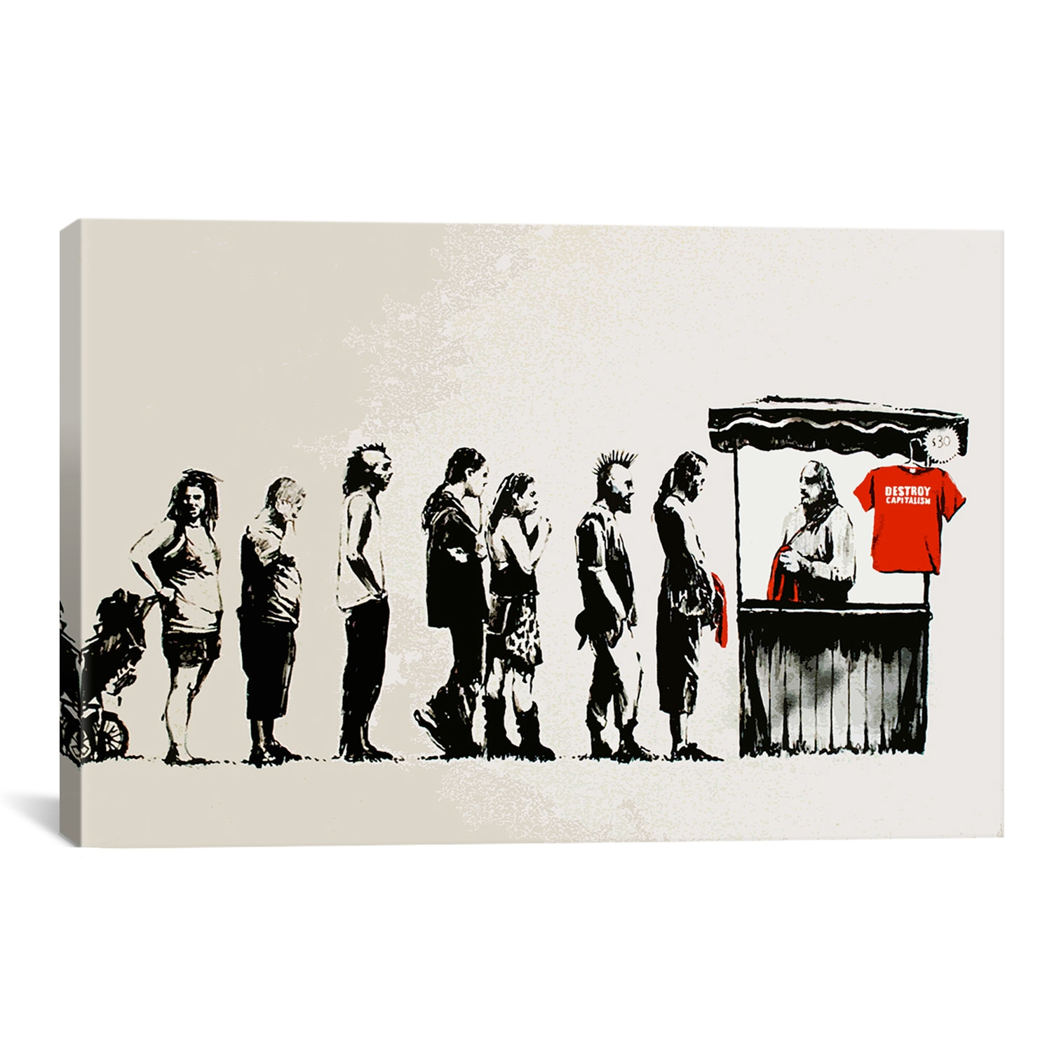 Banksy Canvas Art Icanvas Banksy Destroy Capitalism Canvas Print Wall Art Walmart