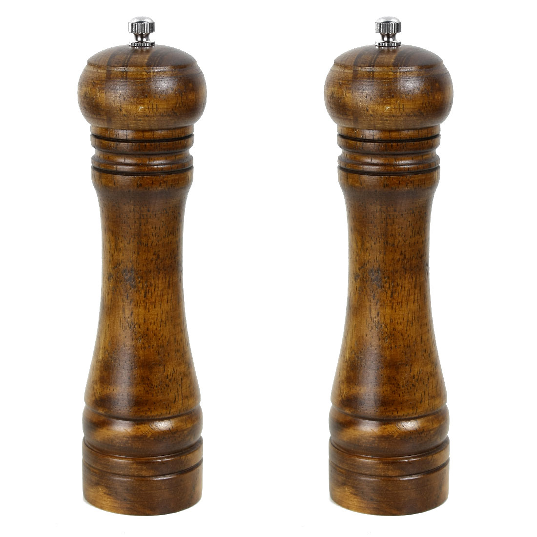 2 Pack Kitchen 2 Pack Kitchen Restaurant Hand Crank Twist Spice Salt Mill Grinder Pepper Shaker Cooking Wood Color