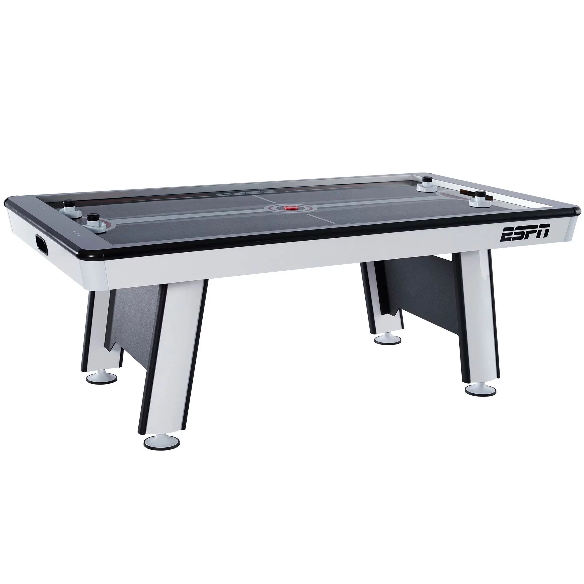 Garage Door Hockey Screen Espn Premium 84 Inch Air Powered Hockey Table With Led Touch Screen Scorer Gray 7 Ft