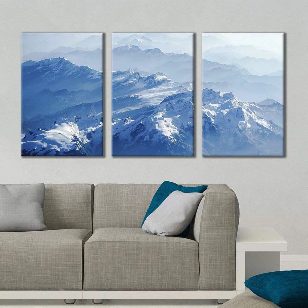 Printing Canvas Wall26 3 Panel Canvas Wall Art Majestic Natural Landscape Triptych Canvas Series Icy Peaks Giclee Print Gallery Wrap Modern Home Decor Ready