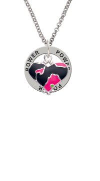 Delight Jewelry - Hot Pink Large Cheetah Print Heart Power ...