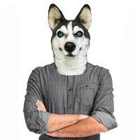 Husky Dog Costume Face Mask