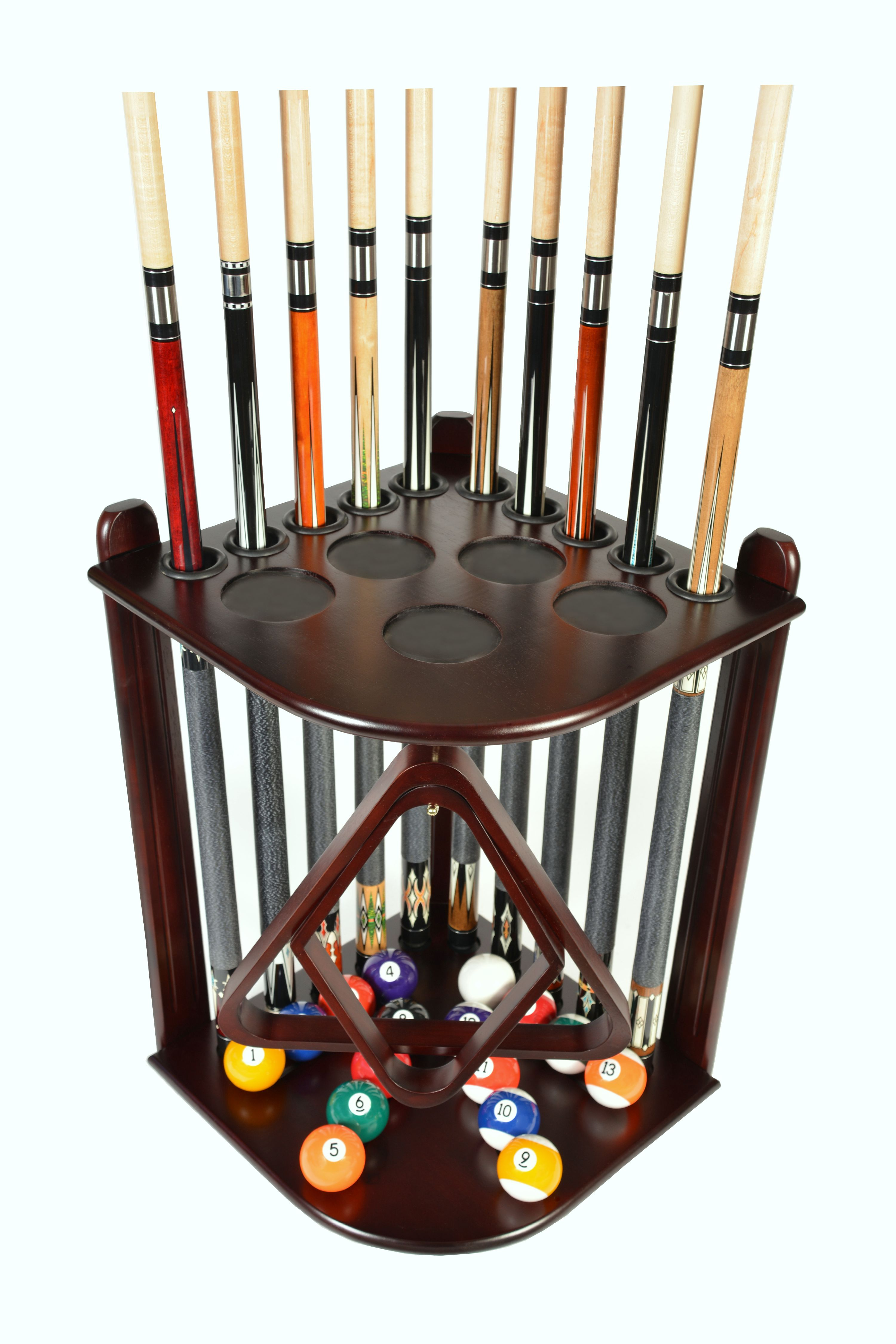 Pool Cue Rack Only 10 Billiard Stick And Ball Floor Rack
