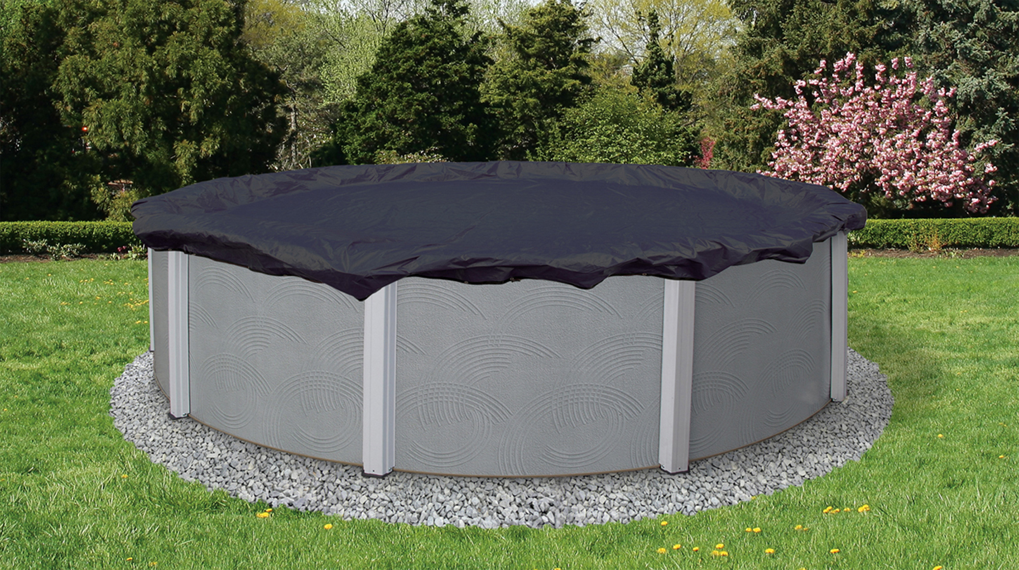Above Ground Pool Winter Cover Blue Wave Bronze 8 Year 24 Ft Round Above Ground Pool Winter Cover