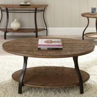 Steve Silver Denise Oval Light Oak Wood Coffee Table ...