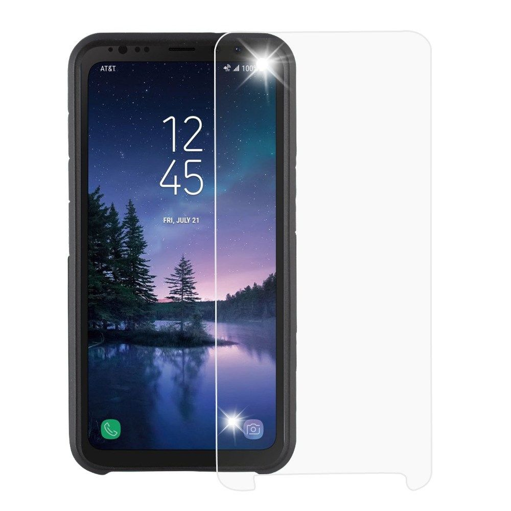 Samsung Screen Samsung Galaxy S8 Active Screen Protector By Insten Clear Tempered Glass Screen Protector Film For Samsung Galaxy S8 Active