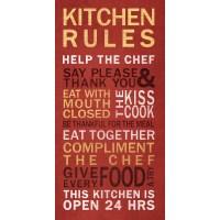 Kitchen Rules Wall Art - Walmart.com