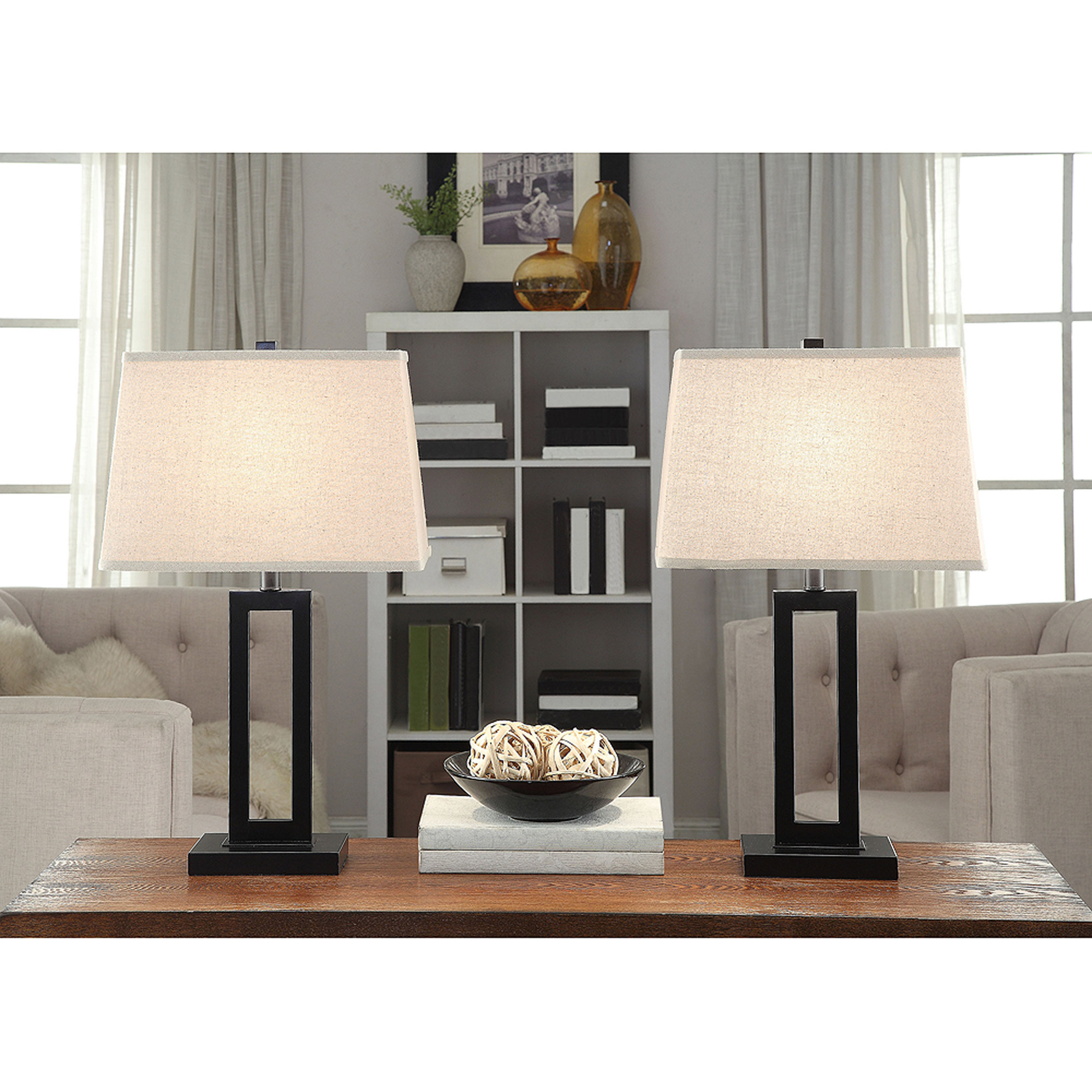 Bed Table Lamps Better Homes And Gardens Open Work Lamps Set Of 2 Black