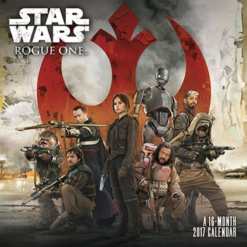 12x12 Poster Star Wars Rogue One 2017 16 Month Wall Calendar 12x12