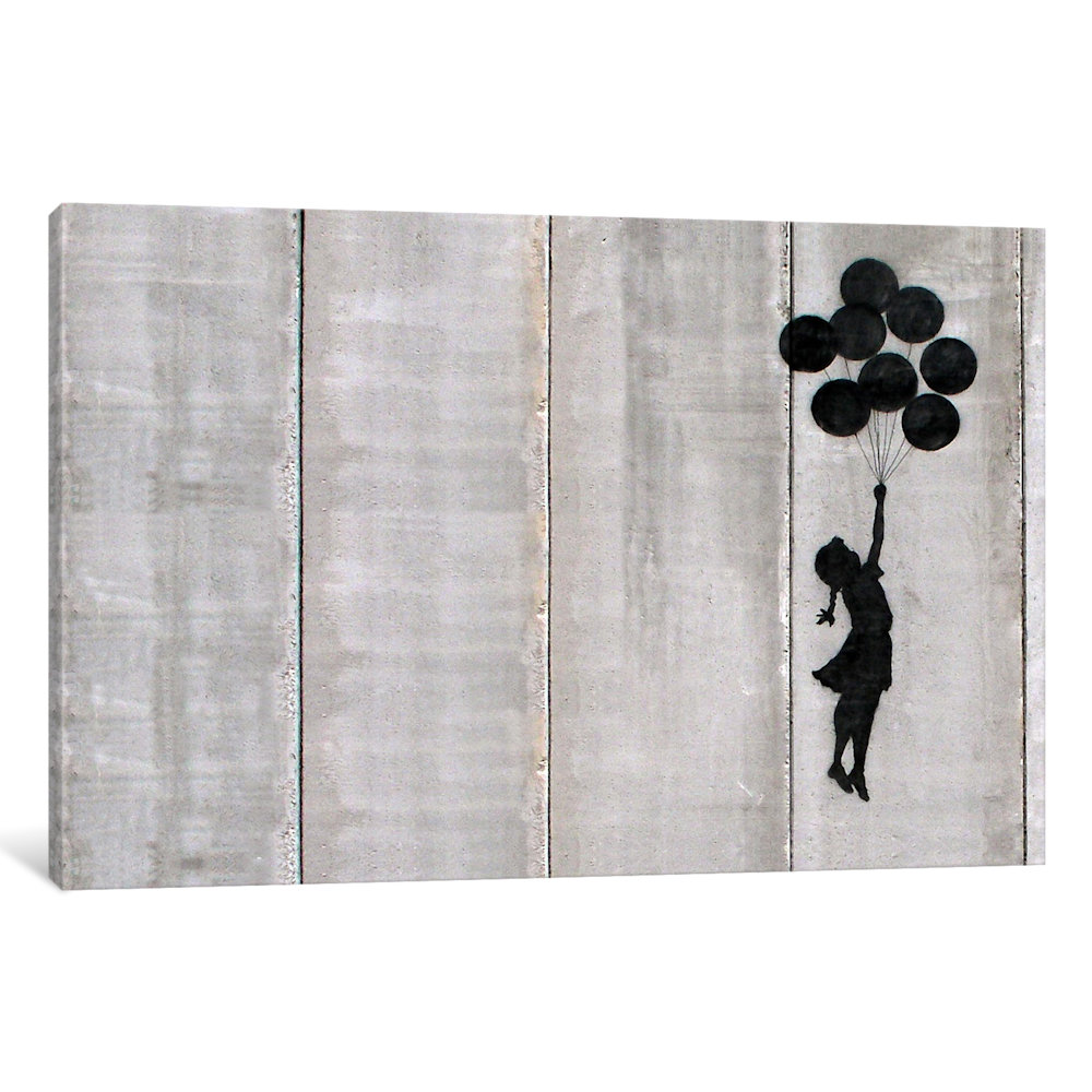 Banksy Canvas Art Icanvas Flying Balloons Girl Gallery Wrapped Canvas Art Print By