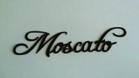 Moscato Wine Word Metal Wall Art - Walmart.com