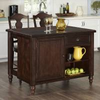 Home Styles Country Comfort Kitchen Island and 2 Bar ...