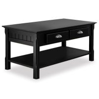 Black Wooden Coffee Table - Walmart.com