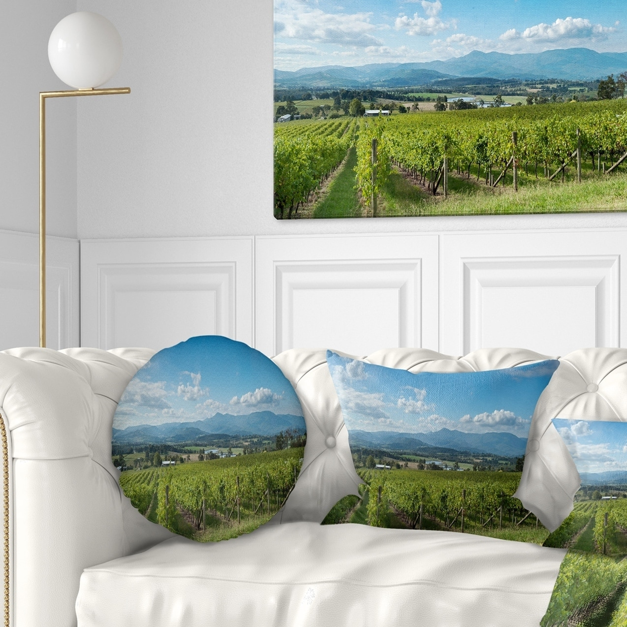 Pillows Melbourne Design Art Designart View Of The Yarra Valley Melbourne Photography Throw Pillow