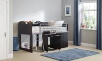 Talia Storage Loft Bed with Desk, Multiple Colors ...