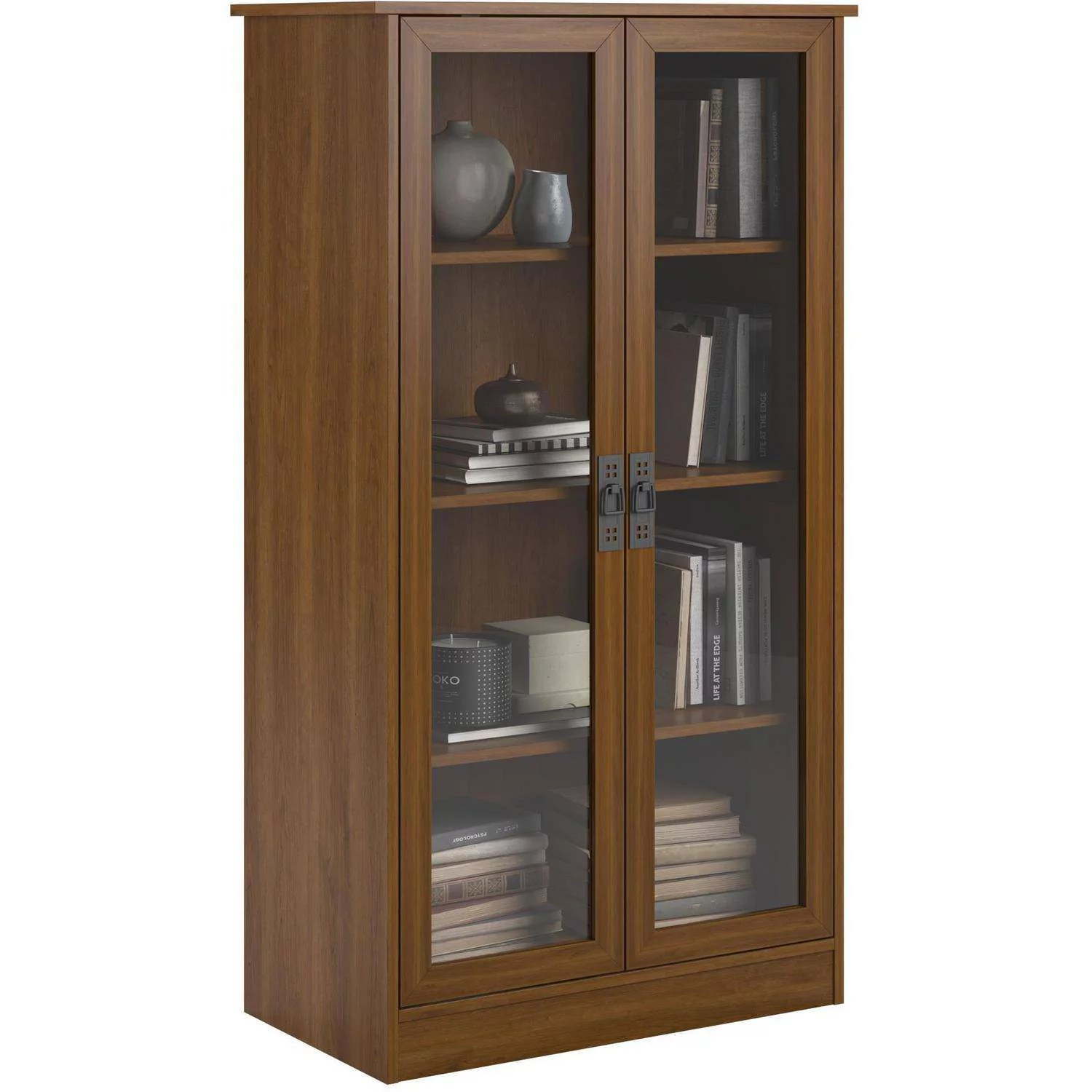 Bookcase Cabinet Heirloom Storage Cabinet With 4 Shelves Multiple Finishes