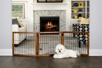 Design Paw 3 Panel Wooden Gate - Walmart.com