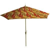 Tango Floral Red Market Umbrella 9' - Walmart.com