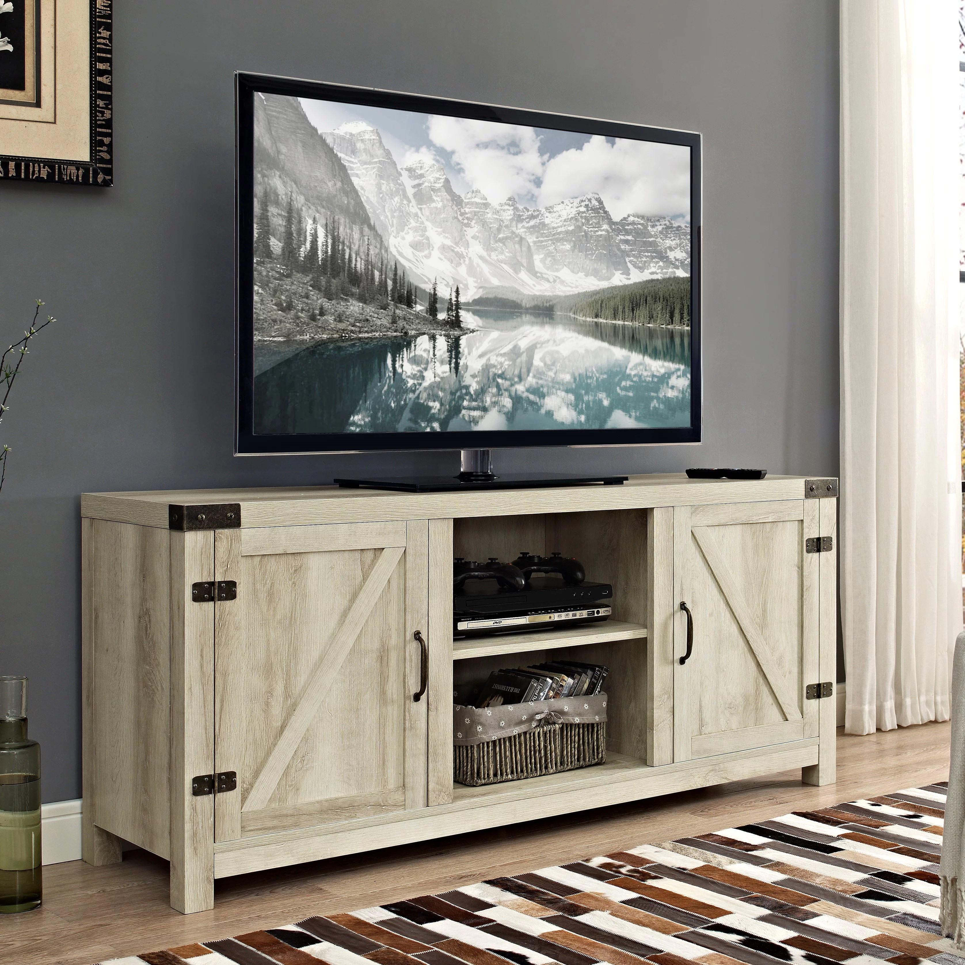 Barn Doors For Homes Manor Park Modern Farmhouse Barn Door Tv Stand For Tv S Up To 64