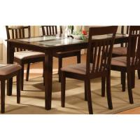 4-Panels Tempered Frosted Glass Top Dining Table - Walmart.com