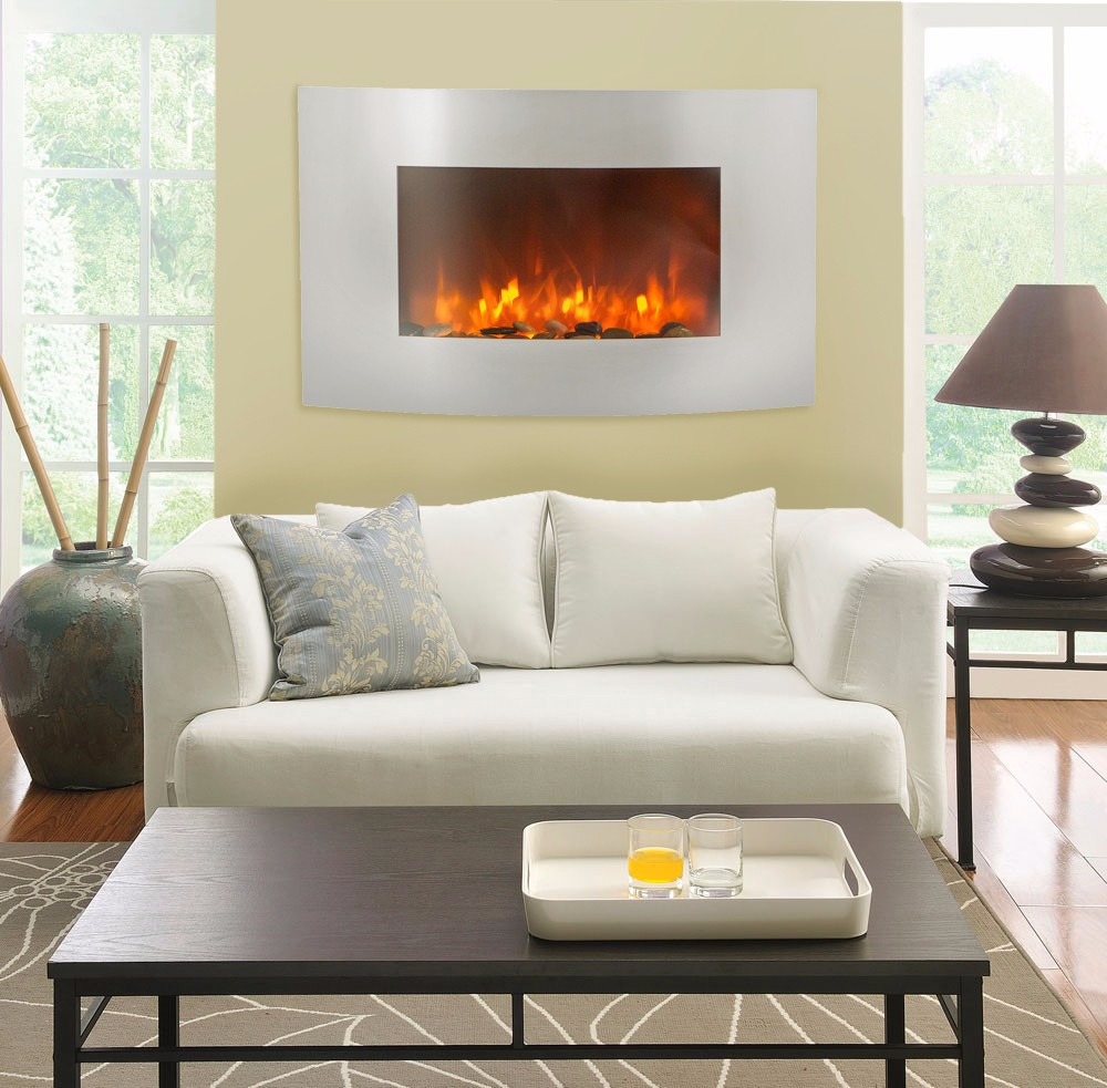Curved Electric Fireplace 35