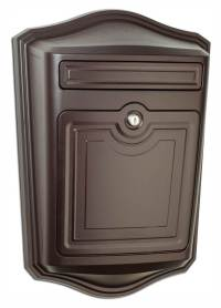 Locking Wall Mount Mailbox in Oil Rubbed Bronze Finish ...