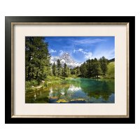 Blue Lake Framed Wall Art - Walmart.com