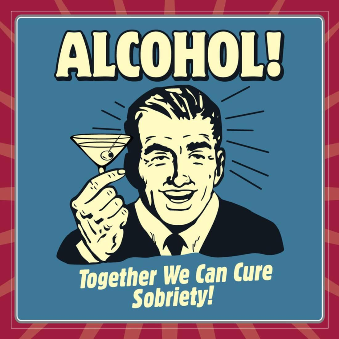 12x12 Poster Alcohol Together We Can Cure Sobriety Poster By