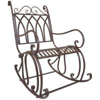 Titan Outdoor Metal Rocking Chair Porch Patio Garden Seat ...