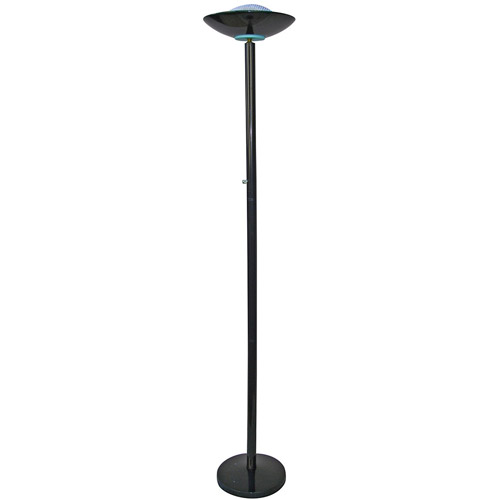 ORE International 190W Halogen Torchiere Floor Lamp, Black