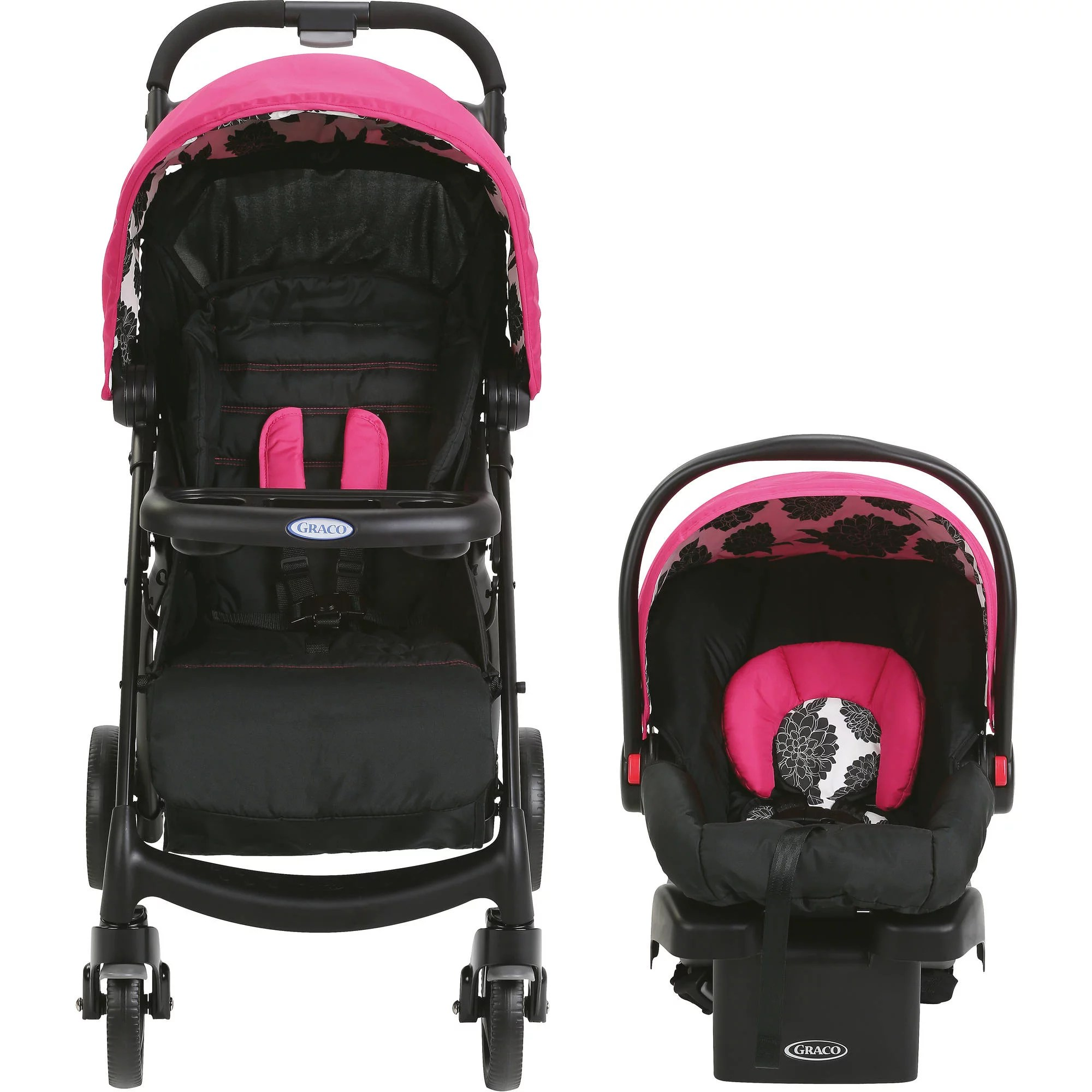 Car Seat Carrier Stroller Details About Stroller Infant Car Seat Baby Carrier Safety Outdoor Travel System New Born Pink