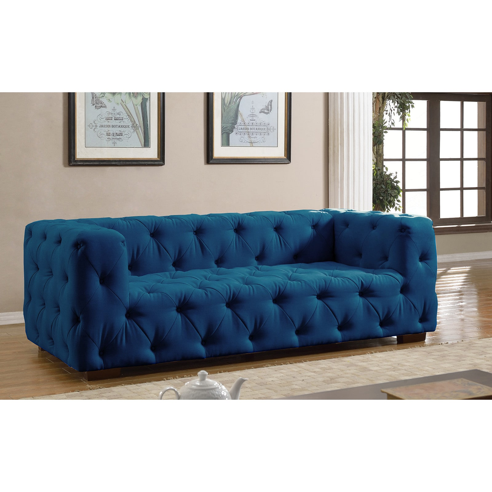Candy Big Sofa Luxurious Modern Large Tufted Linen Fabric Sofa Walmart
