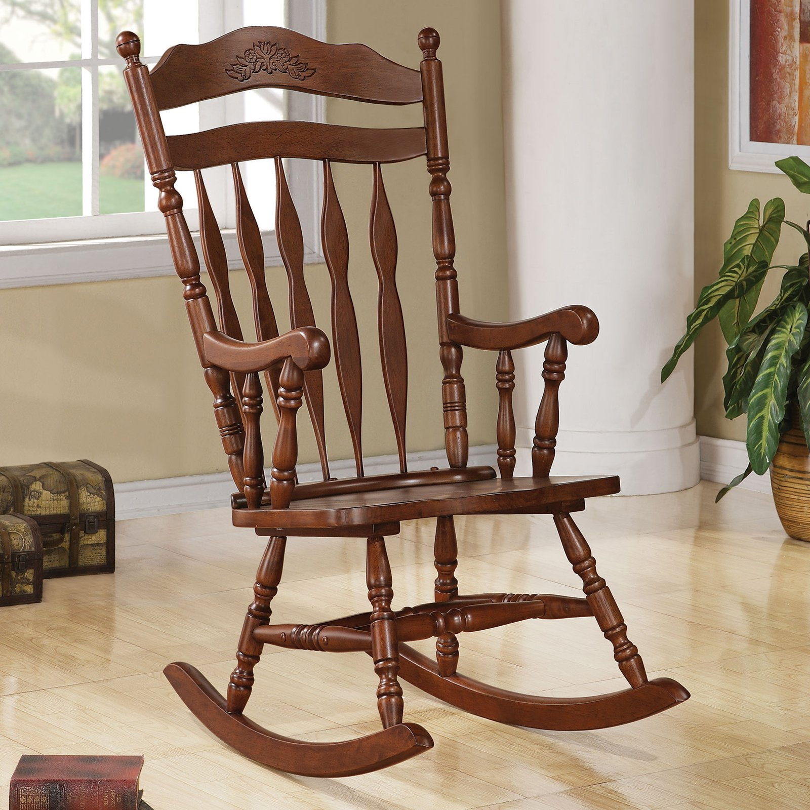 Wood Rocking Chair Coaster Milton Indoor Rocking Chair
