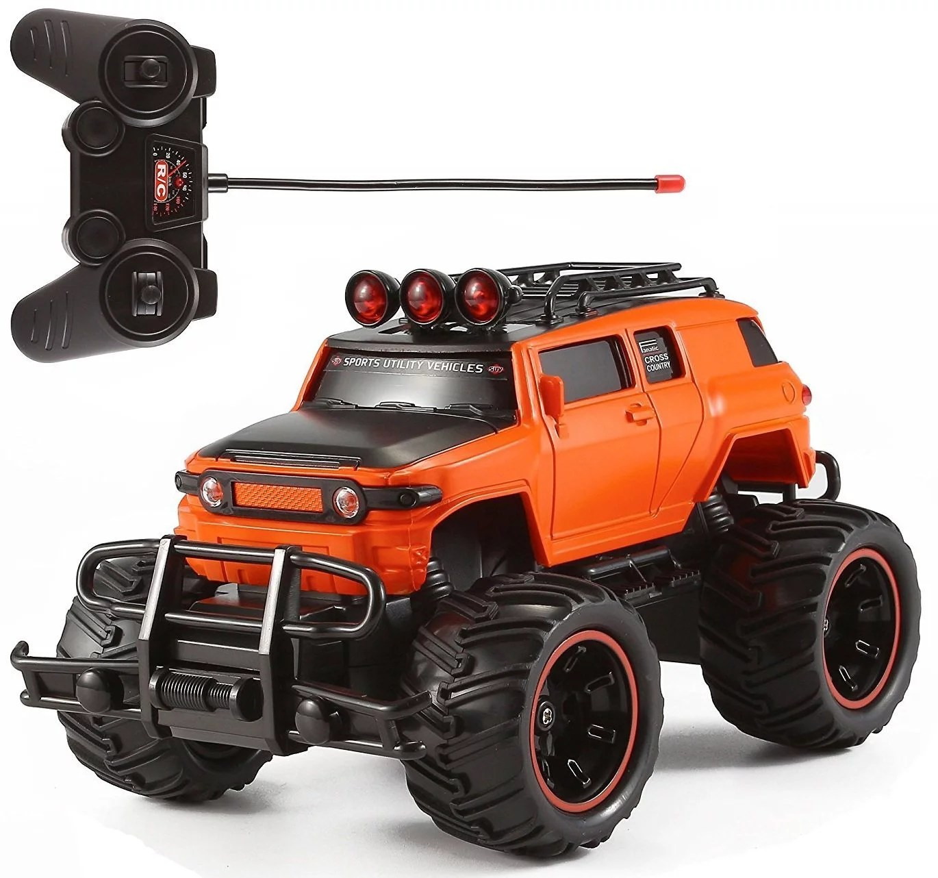 Rtr Rc Trucks Electric Rc Monster Truck Toy Remote Control Rtr Electric Vehicle Off Road High Speed Race Car 1 20 Scale Radio Controlled Orange Color
