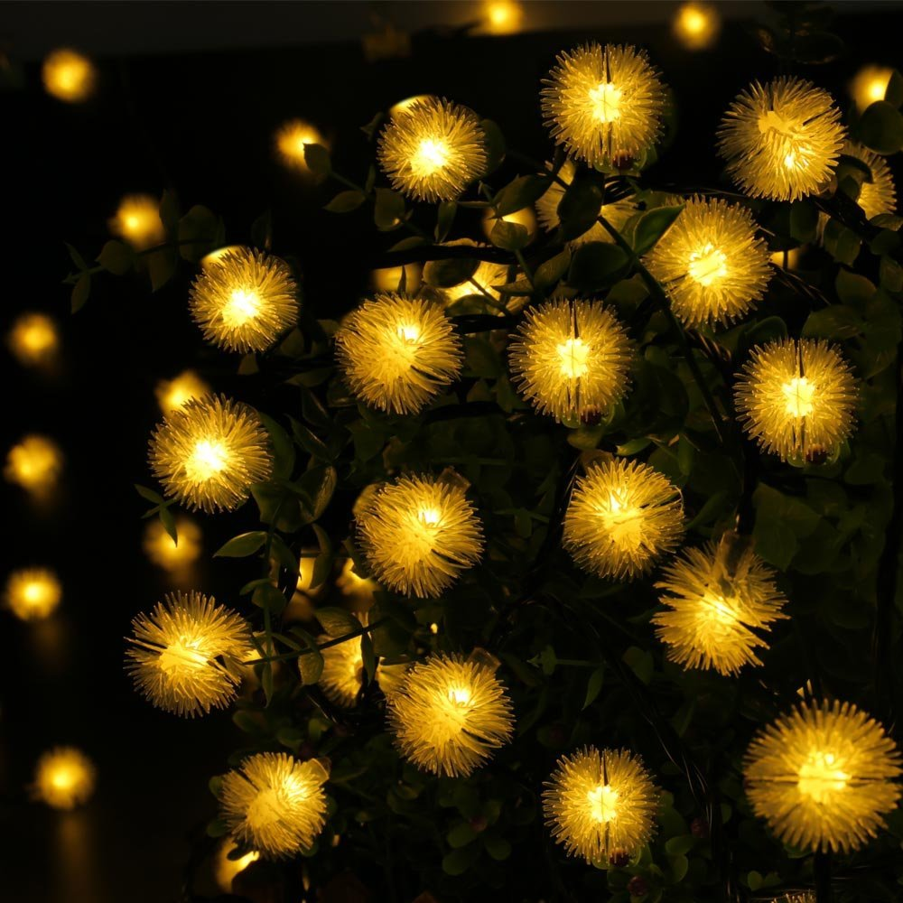 Solar Weihnachtsbeleuchtung 2pack Qedertek Solar String Lights Chuzzle Ball String Lights 15 7ft 20 Led Lights For Indoor And Outdoor Home Lawn Garden Wedding Patio Party And