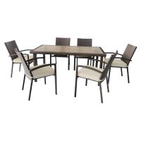 Jeco 7 Piece Wicker Patio Dining Set - Walmart.com