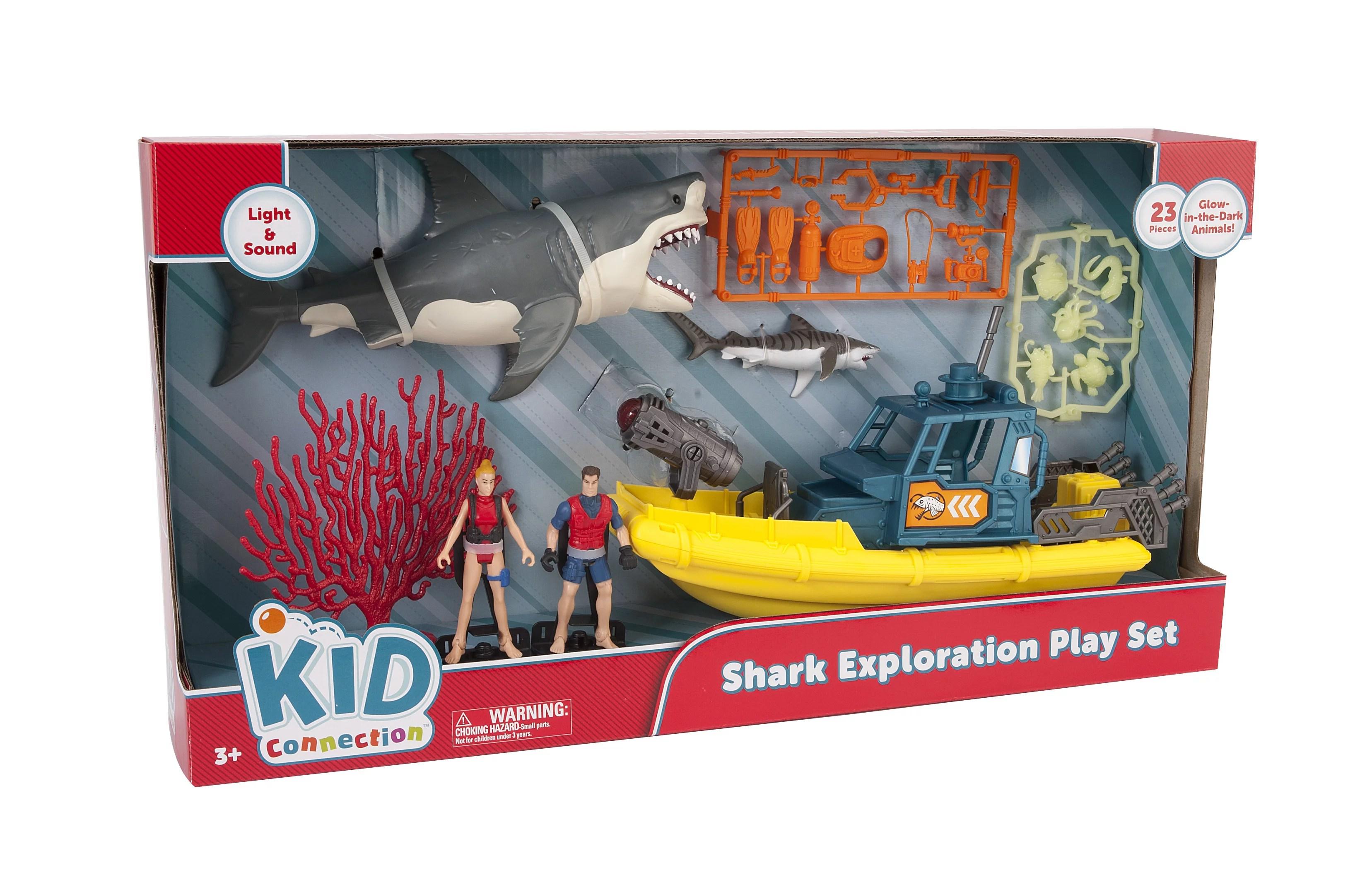 Kid Connection Shark Exploration Playset Walmart