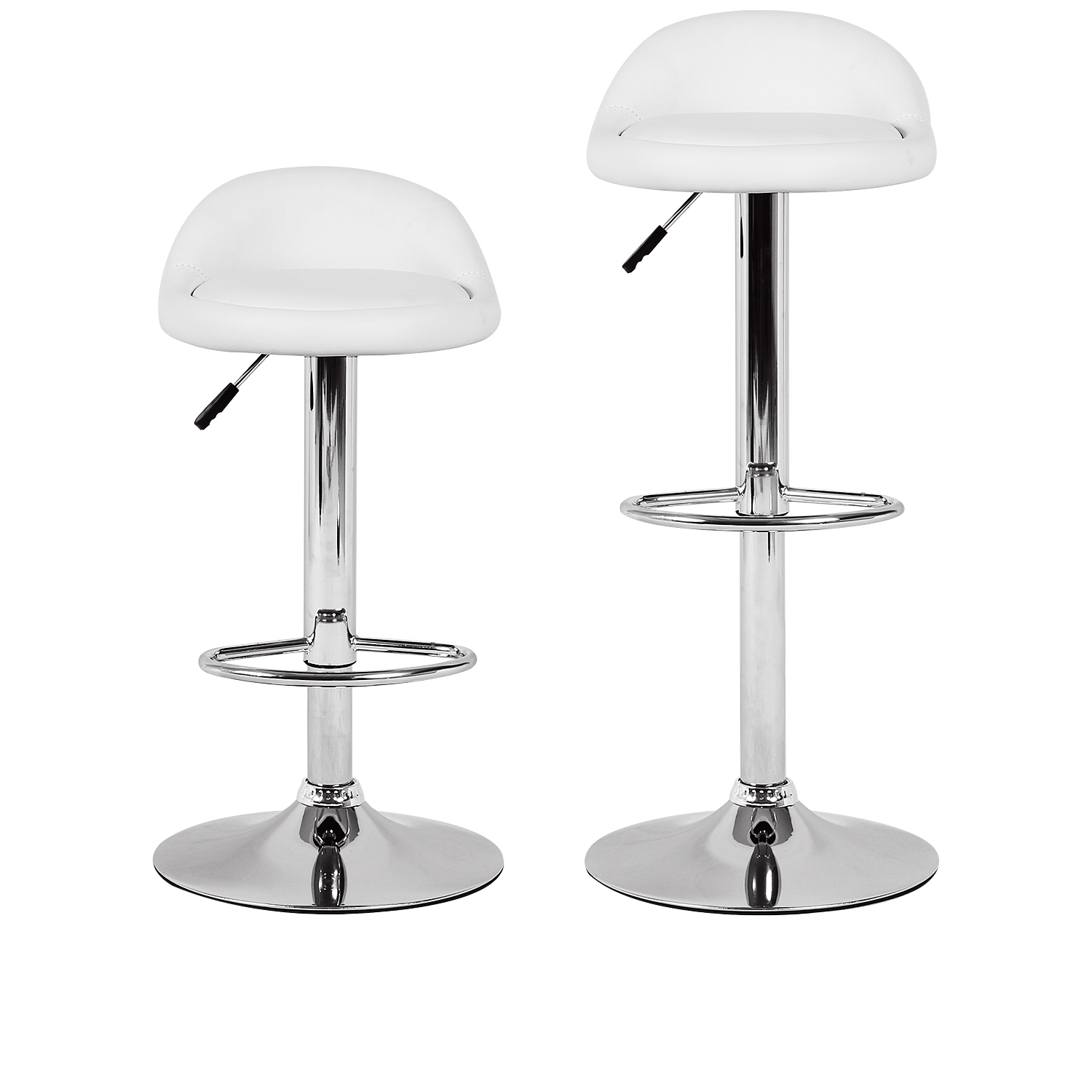 Bar Stool Height White Bar Stool Height Adjustable Swivel Metal Counter Stools W Chrome Base Set Of 2