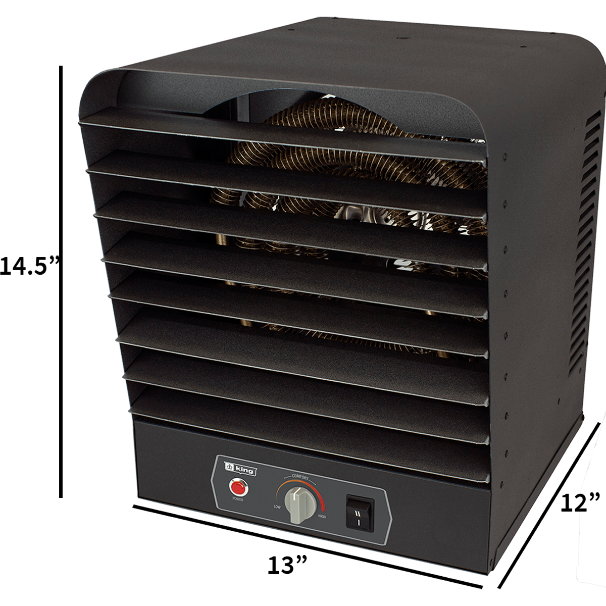 King Electric Garage Heater King Gh2405tb 240 Volt 5000 Watt Garage Heater Gray