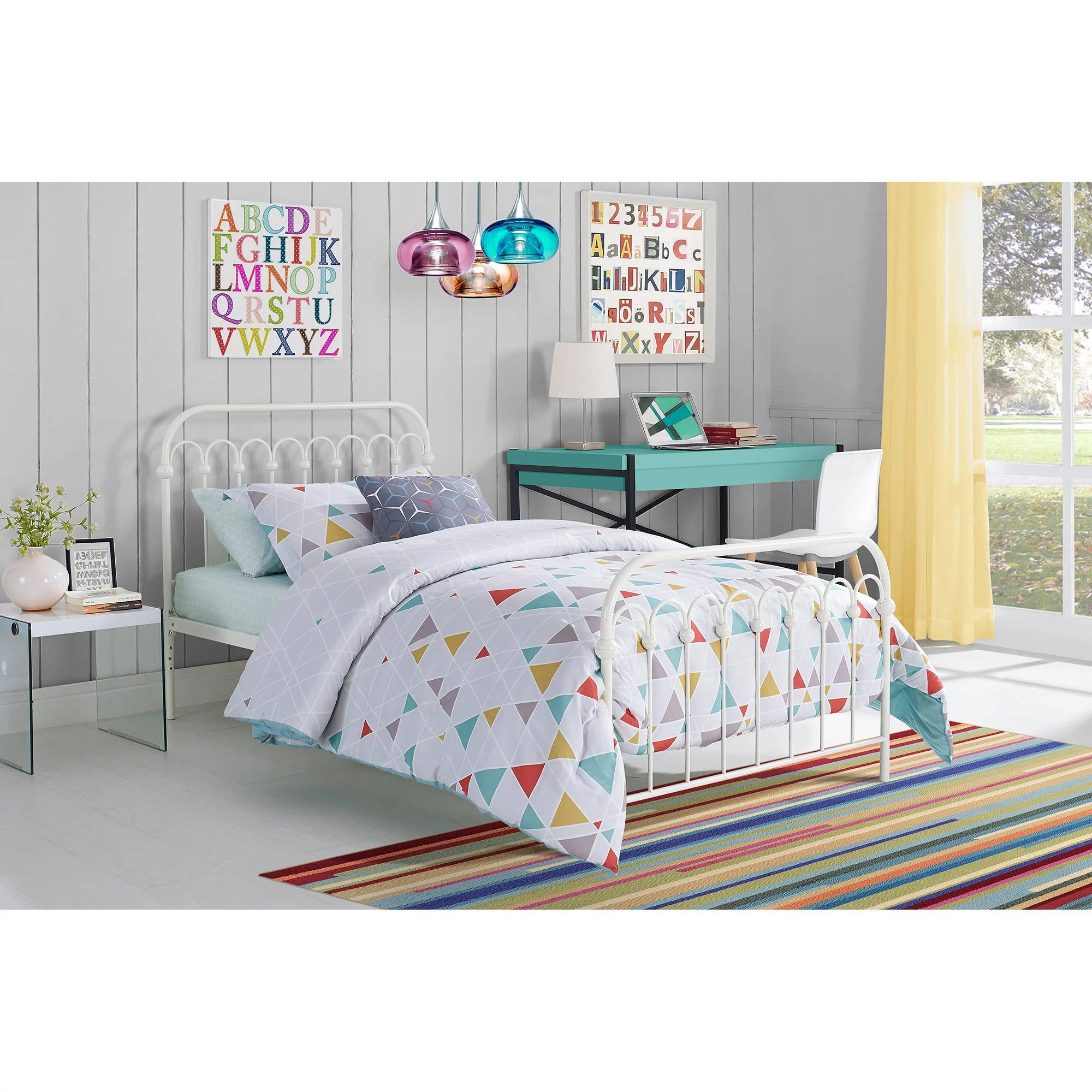 Metal Bed Headboards Novogratz Bright Pop Metal Bed Multiple Sizes Multiple Colors