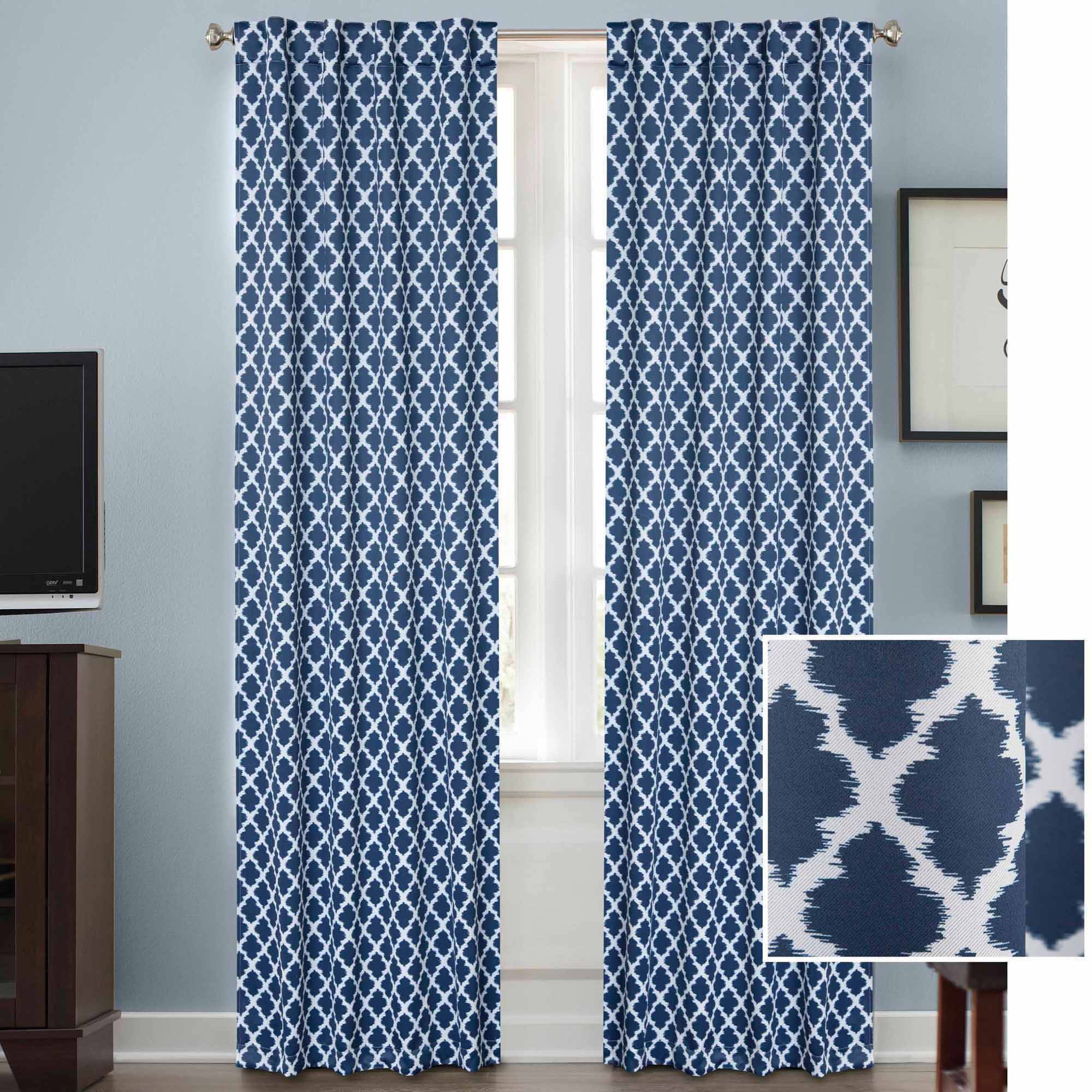 Curtains For Sale At Walmart Better Homes Gardens Tangier Room Darkening Curtain Panel Rod Pocket