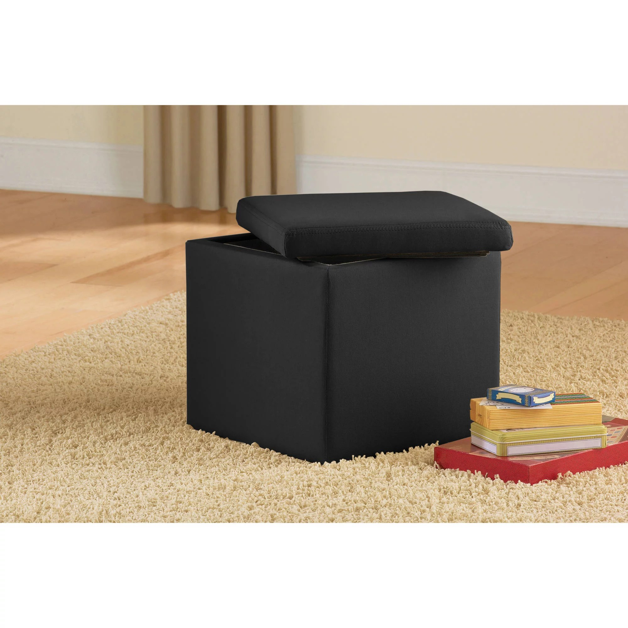 Ottoman Walmart Mainstays Faux Suede Ultra Storage Ottoman Multiple Colors