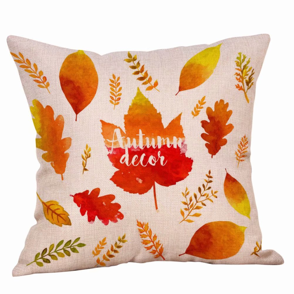Autumn Theme Fall Decorative Pillow Covers Maple Leaf