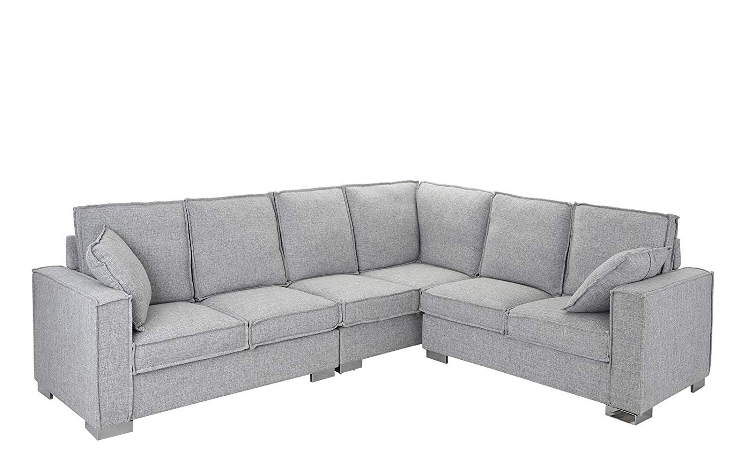 Sofa L Images Large Living Room Fabric Sectional Sofa L Shape Couch Light Grey