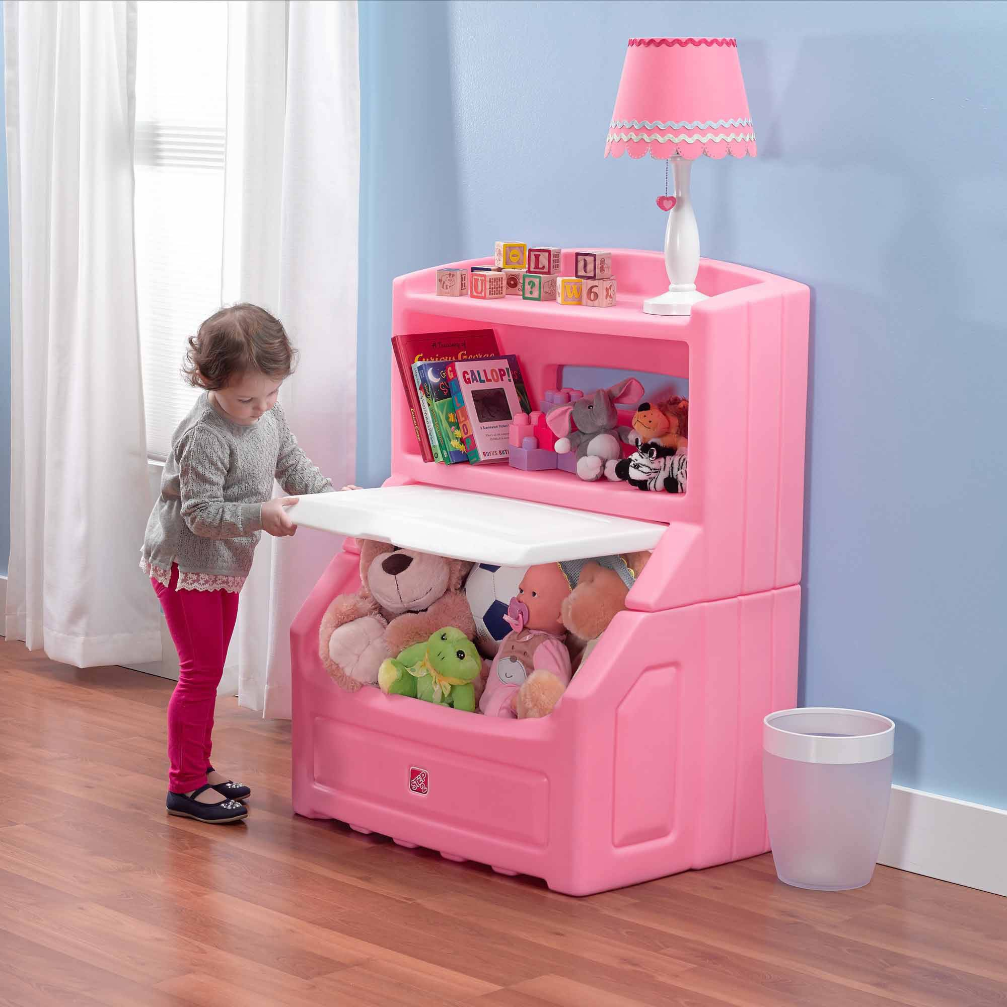 Toy Box With Bookshelf Step2 Lift Hide Bookcase With Kids Storage Bin And Toy Organizer