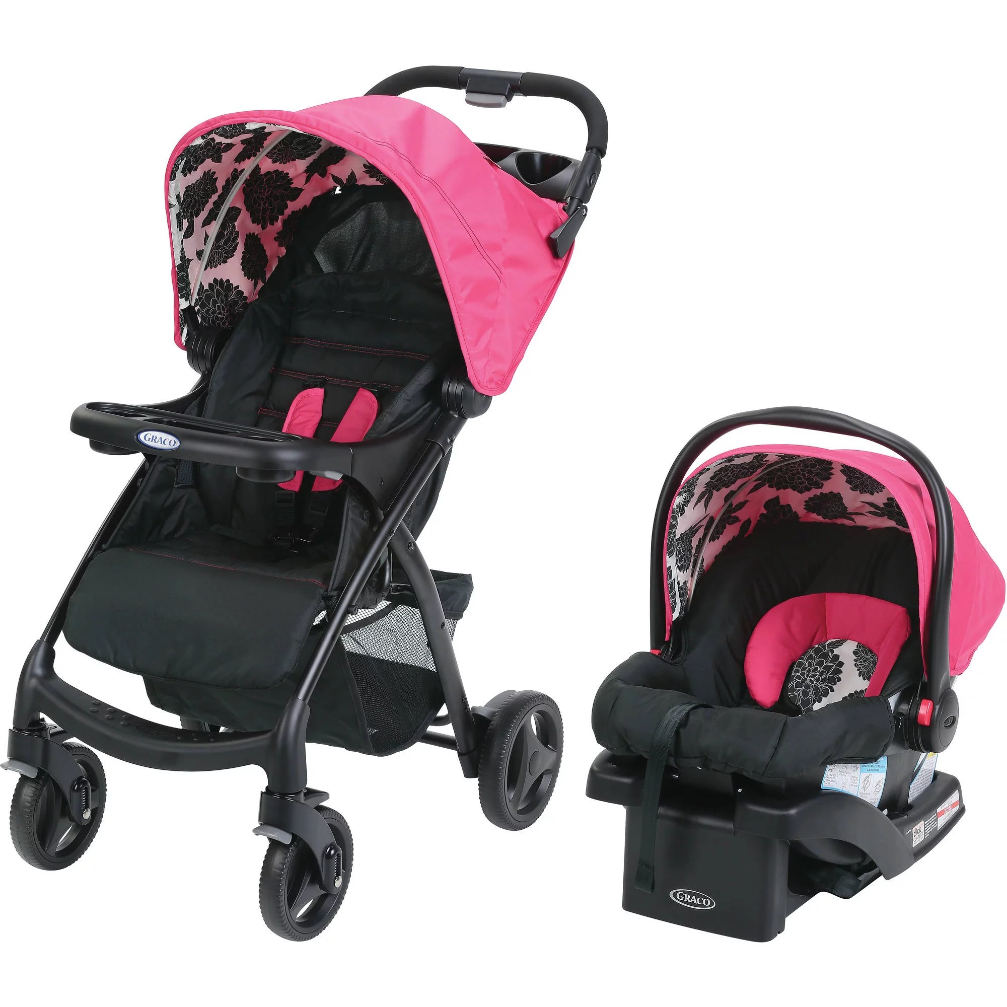 Stroller Travel System Ebay Details About Graco Verb Click Connect Travel System Azalea Stroller Baby From The On Child