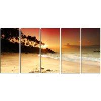 Design Art Amazing Sunset and Beach in Sri Lanka 5 Piece ...